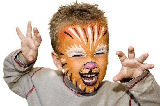 maquillaje leon para niño