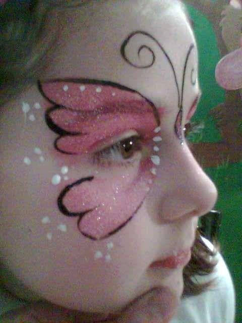 maquillaje fantasía mariposa