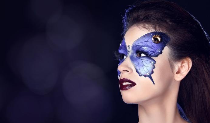 maquillaje mariposa artistico