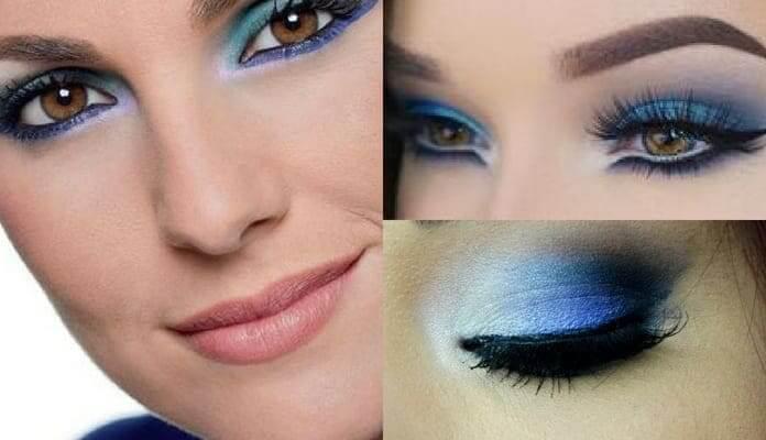 maquillaje vestido azul marino