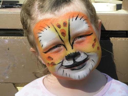 maquillaje tigre niño
