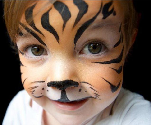 maquillaje tigre niña sencillo