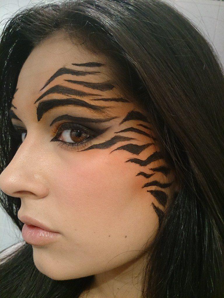 maquillaje tigresa sencillo