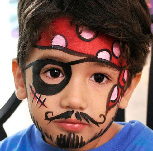 maquillaje pirata niño