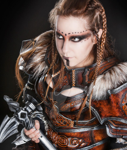 vikingo niña maquillaje disfraz