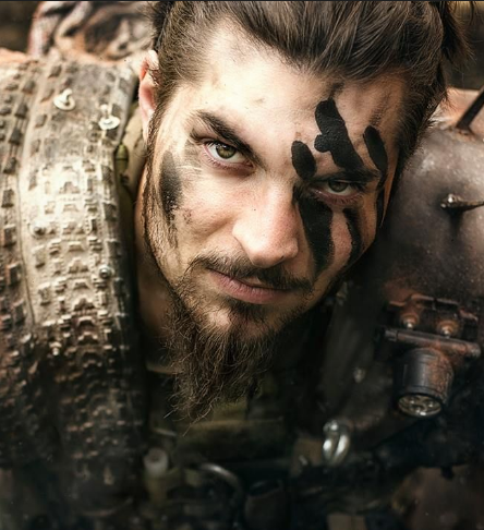 vikingo hombre maquillaje