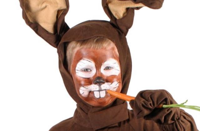 maquillaje conejo marrón