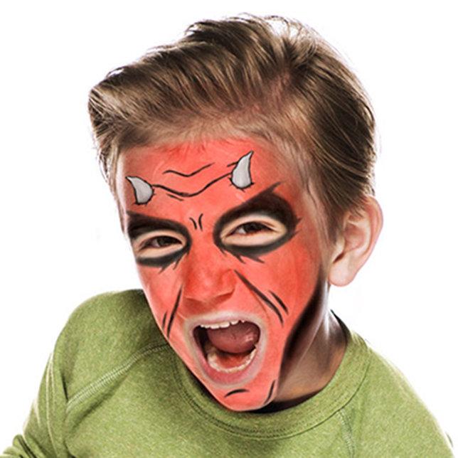 maquillaje niño demonio