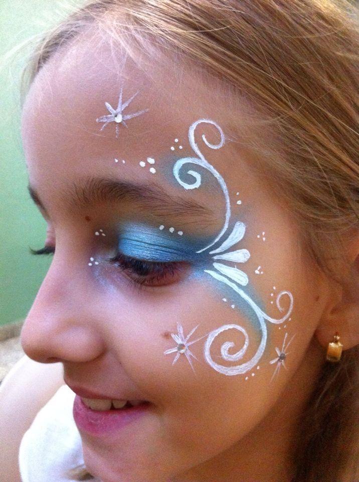 maquillaje facil frozen