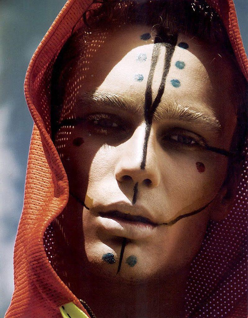 maquillaje tribal hombre