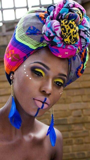 maquillaje para morena tribal