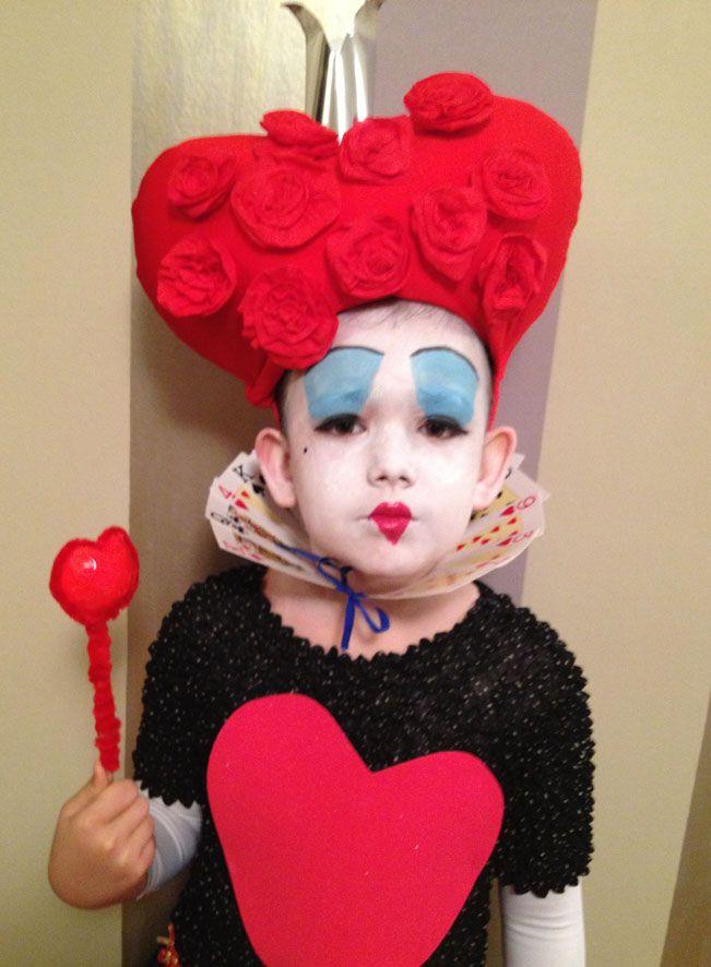 reina de corazones maquillaje niña