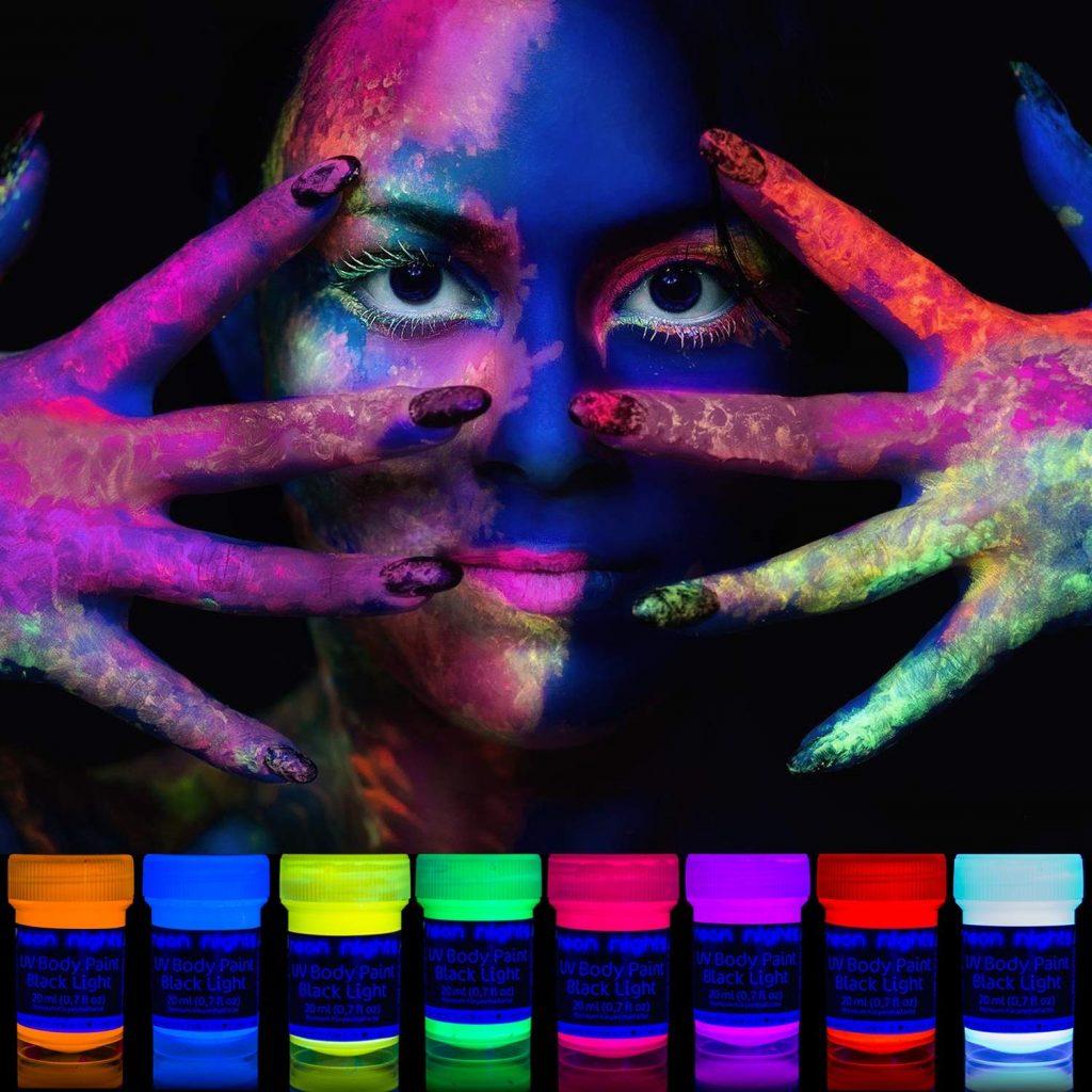 pintura corporal neon nights