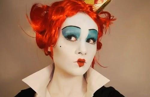 maquillaje reina corazones mujer