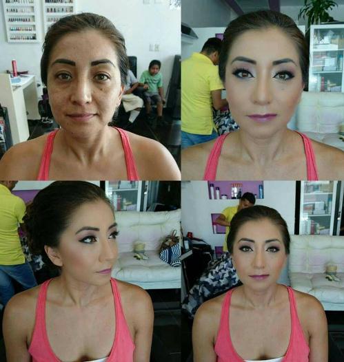 antes y despues maquillaje aerografo
