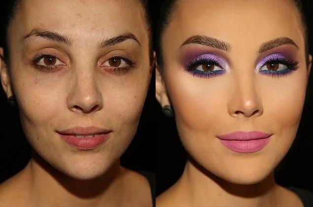 maquillaje colores vibrantes