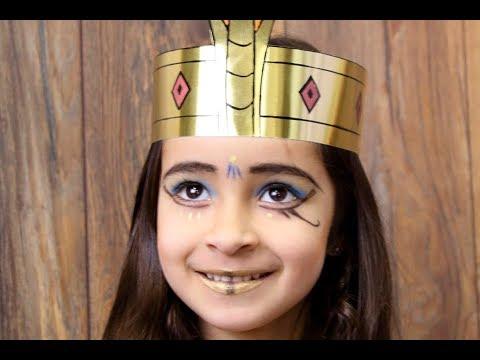 maquillaje para niña de cleopatra