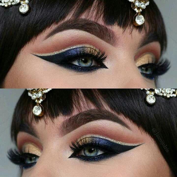 maquillaje cleopatra ojos
