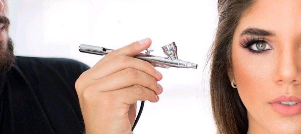 pros y contras del maquillaje aerografo