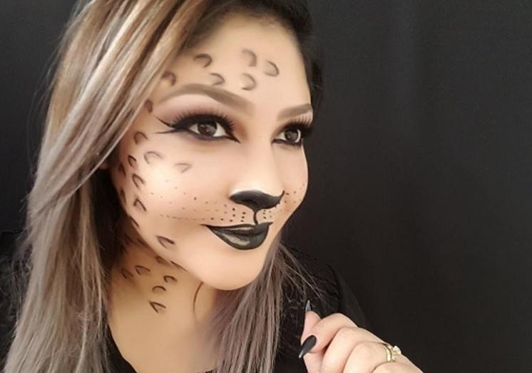 maquillaje leopardo mujer