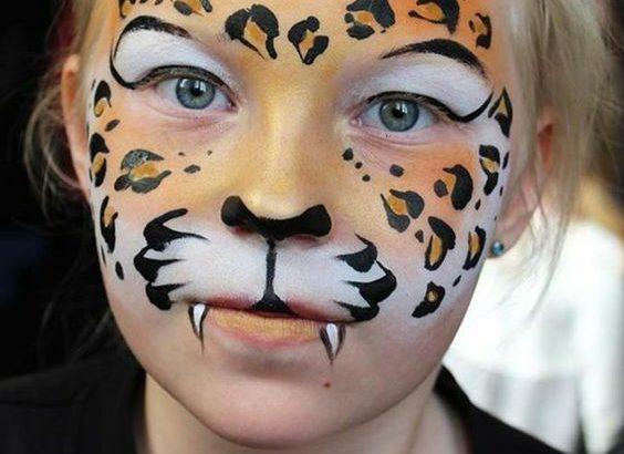 maquillaje leopardo para niña