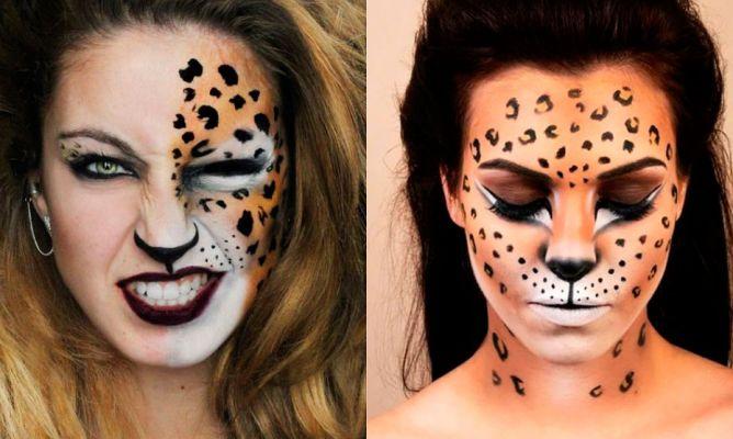 maquillaje leopardo halloween