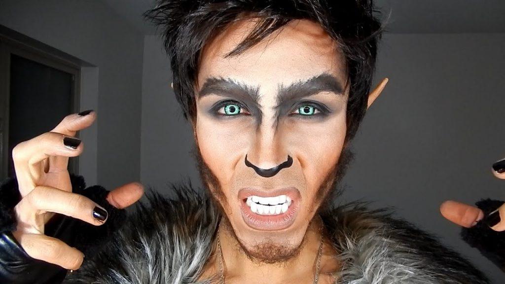 maquillaje hombre lobo carnaval