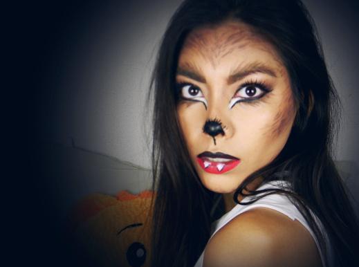 maquillaje mujer lobo paso a paso