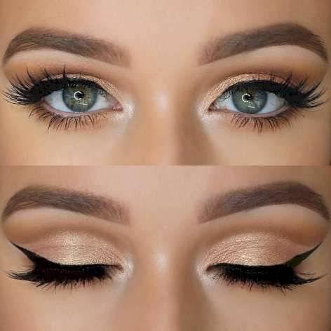 maquillaje dorado natural