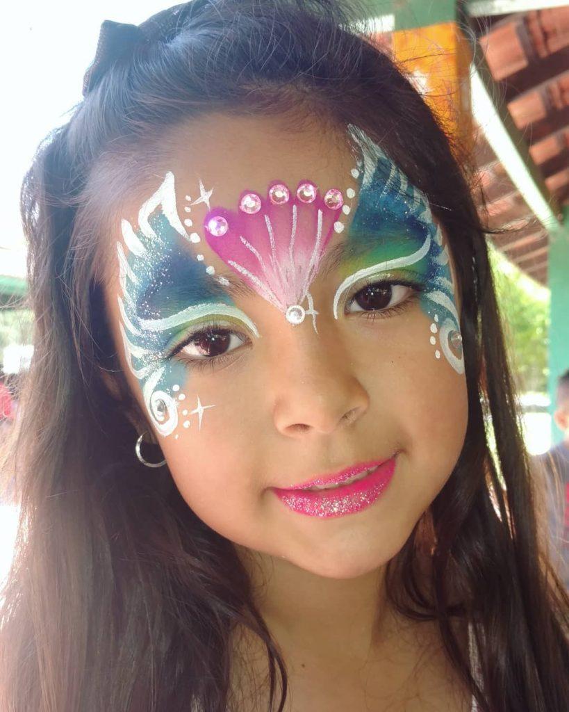 maquillaje de sirena para niña