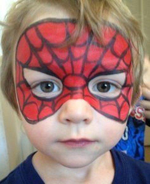 maquillaje spiderman para niño