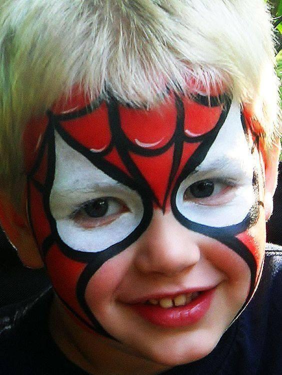maquillaje spiderman niño