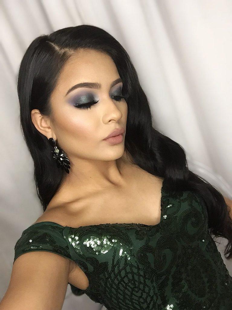 maquillaje para vestido verde